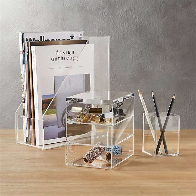 acrylic desk accessories | CB2