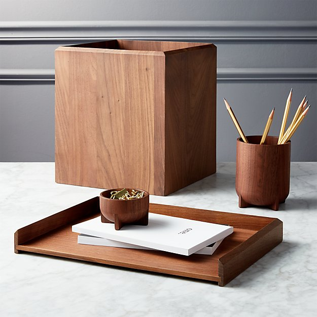 Walnut Desk Accessories | CB2