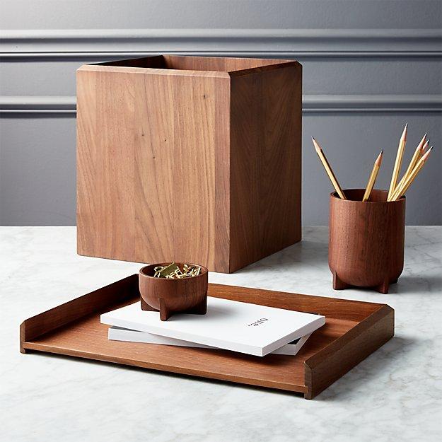 Walnut Desk Accessories | CB2