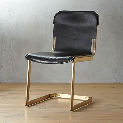 Edgy furniture High End Rake Brass Chair Cb2 Unique Furniture Modern Edgy Cb2