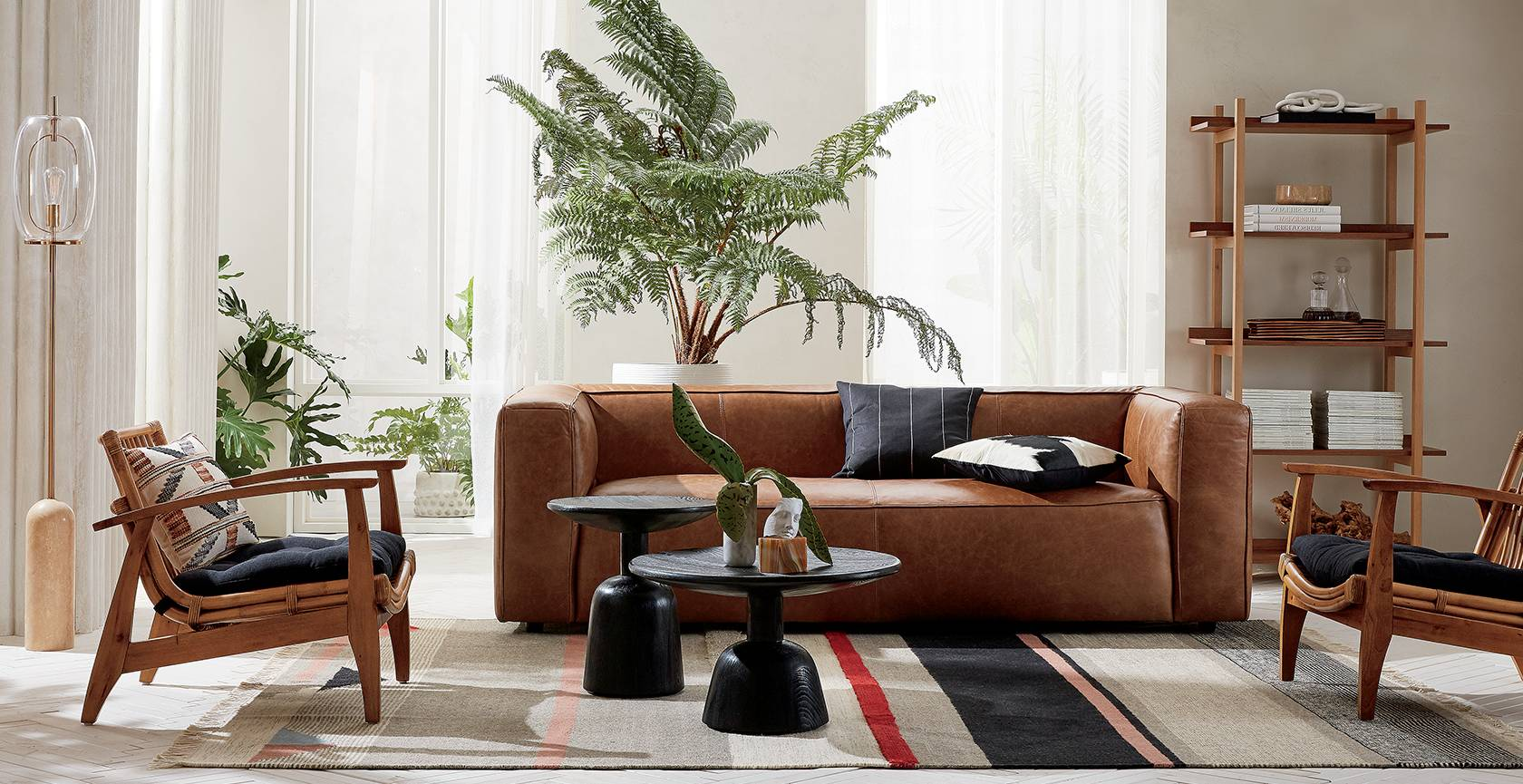 Modern Furniture And Home Decor Cb2 - Colorful-home-interior-on-portland-road-in-london