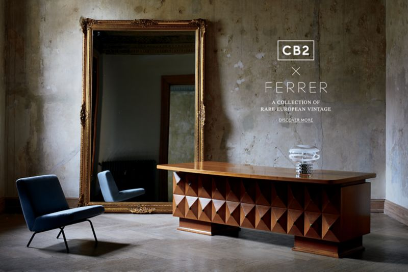 Ferrer X Cb2, A Collection Of Rare European Vintage · Cb2 Interiors