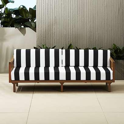 Tropez Black And White Striped Sofa