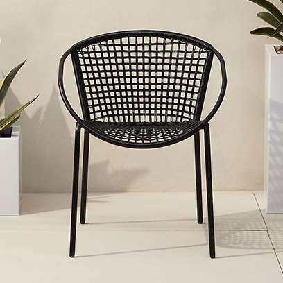 sophia black dining chair - Modern Outdoor Patio Furniture CB2