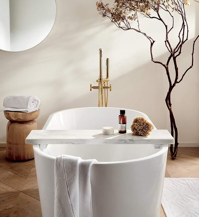 Modern Bathroom Decor And Bed Linens Cb2