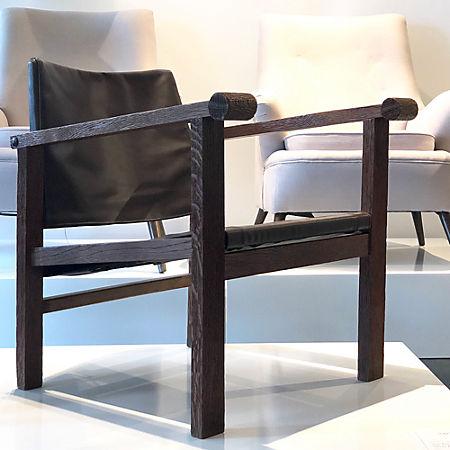 Fabulous Art Deco Reclining Sling Leather Chair Cb2 Cjindustries Chair Design For Home Cjindustriesco