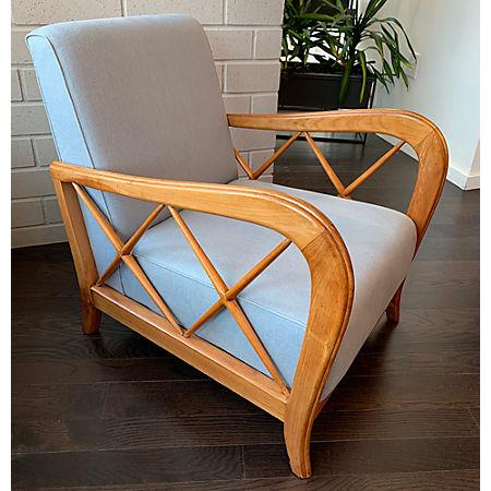 Sensational Paolo Buffa Lounge Chair Cb2 Alphanode Cool Chair Designs And Ideas Alphanodeonline