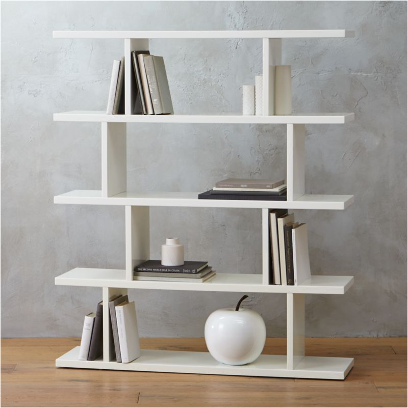3.14 Modern White Bookcase + Reviews | CB2