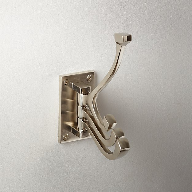 Silver 3-Prong Swivel Towel Hook - Image 1 of 3