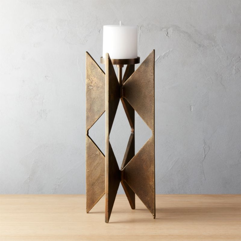 Brass Candle Holders Cb2