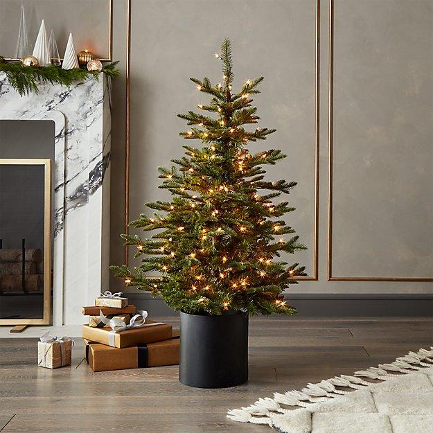 mixed pine pre lit christmas tree 4 reviews cb2 - Pre Lit Christmas Tree Reviews