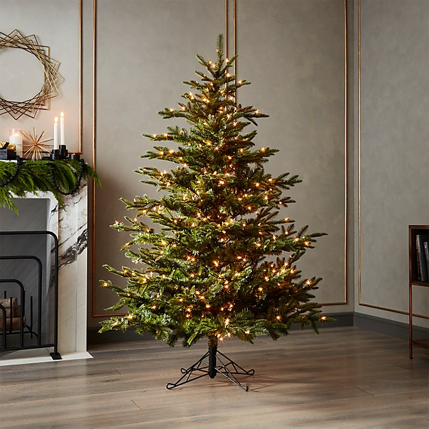 mixed pine pre lit christmas tree 6 reviews cb2