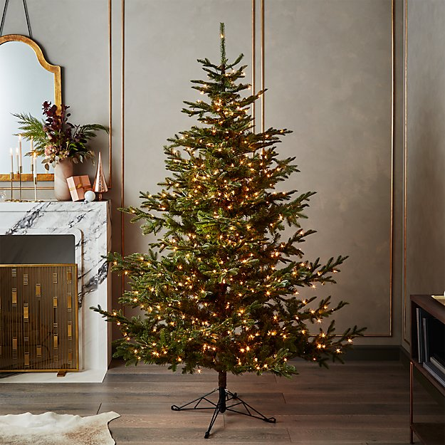 mixed pine pre lit christmas tree 75 reviews cb2