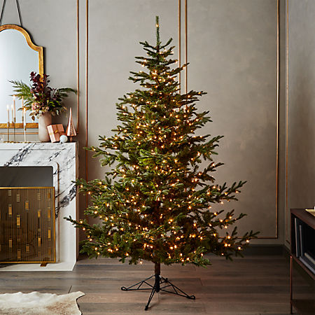 Pre Lit Christmas Tree.Artificial Mixed Pine Pre Lit Christmas Tree 7 5
