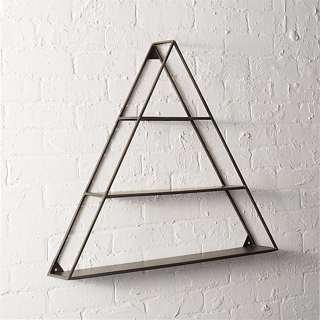 A Frame Triangle Wall Shelf Reviews Cb2