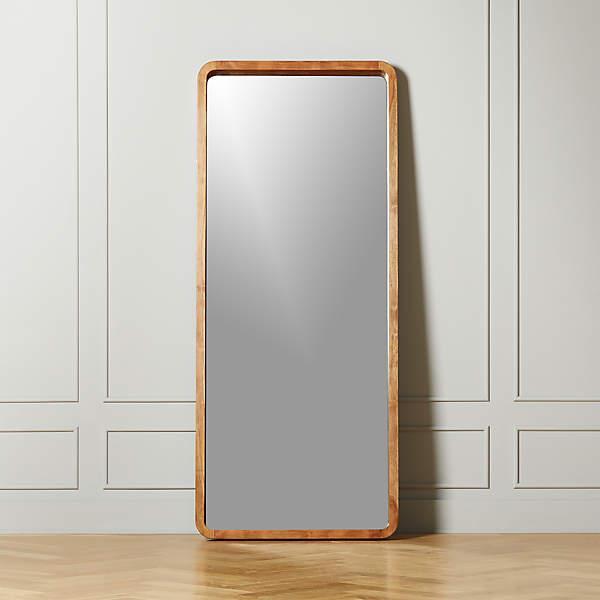 Acacia Wood Floor Mirror Reviews, Full Length Floor Mirror Canada