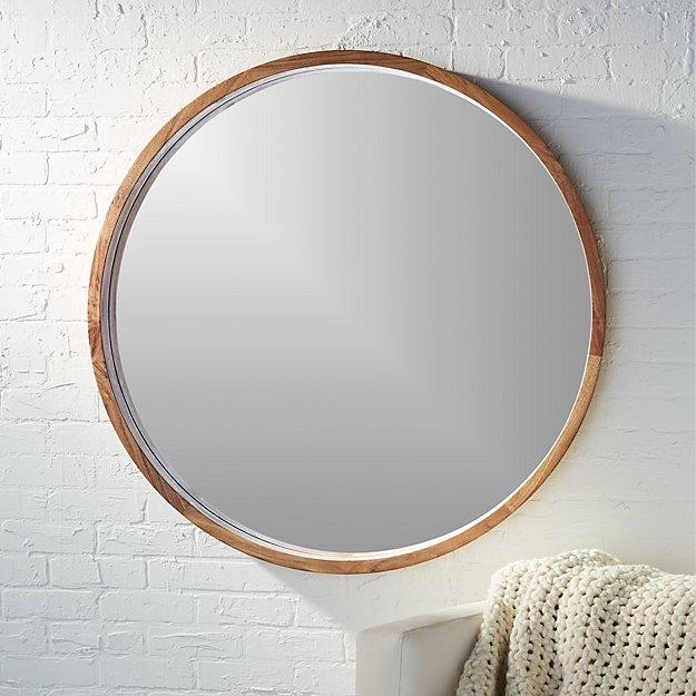 """Acacia Wood 40"""" Mirror - Image 1 of 12"""