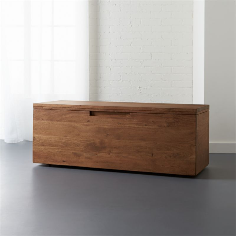 Incredible Acacia Storage Bench Lamtechconsult Wood Chair Design Ideas Lamtechconsultcom