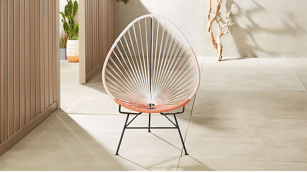 Acapulco Pink Egg Outdoor Chair Reviews Cb2