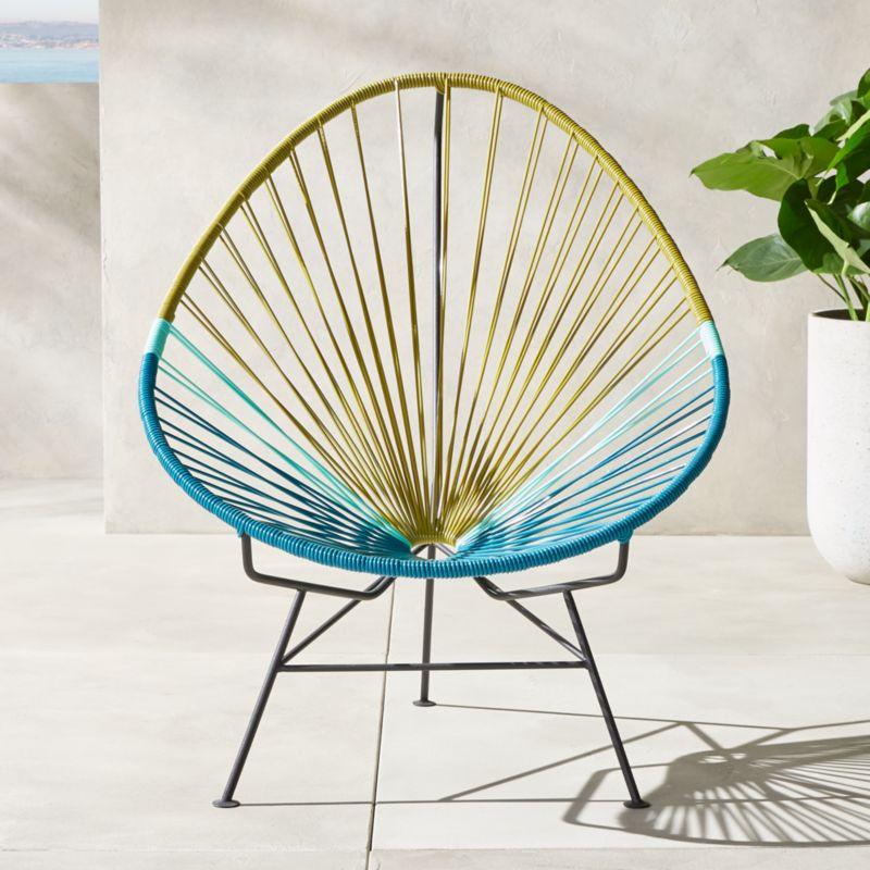 Acapulco Blue Green Lounge Chair