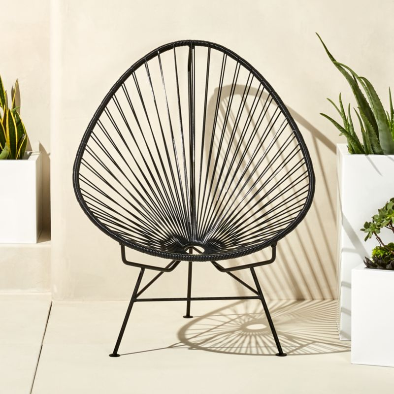 - Outdoor Black Acapulco Chair + Reviews CB2
