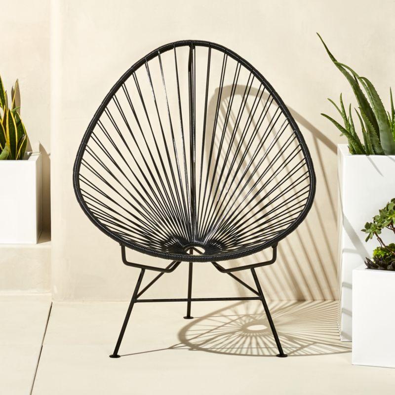 Attirant Acapulco Black Egg Outdoor Chair
