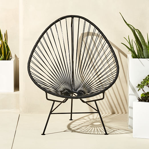 Acapulco Black Egg Outdoor Chair