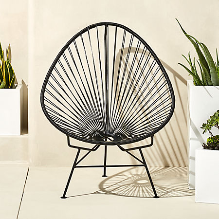 Wondrous Acapulco Black Egg Outdoor Chair Bralicious Painted Fabric Chair Ideas Braliciousco