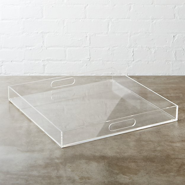Acrylic Clear Square Tray - Image 1 of 8