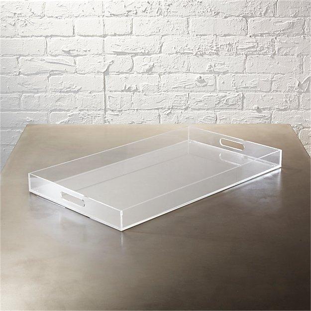 Acrylic Clear Rectangular Tray - Image 1 of 7