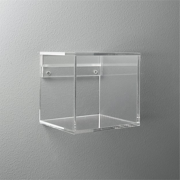 Acrylic Cube Shelf + Reviews | CB2