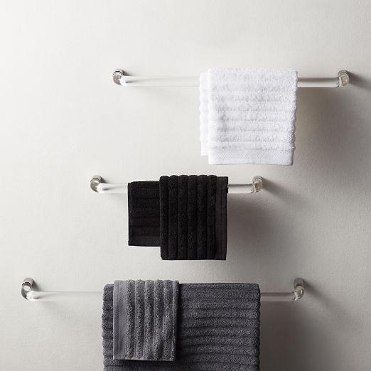 Acrylic and Polished Nickel Towel Bars