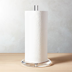 Kitchen towel holder Suction Acrylic Paper Towel Holder Cb2 Kitchen Storage Furniture And Containers Cb2