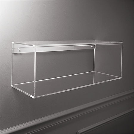 Miraculous Lucite Shelf Reviews Cb2 Interior Design Ideas Clesiryabchikinfo