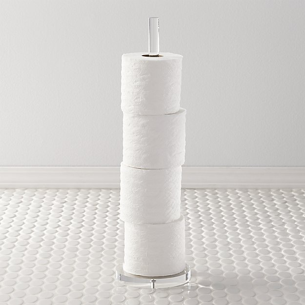 Acrylic Toilet Paper Storage Tower + Reviews | CB2