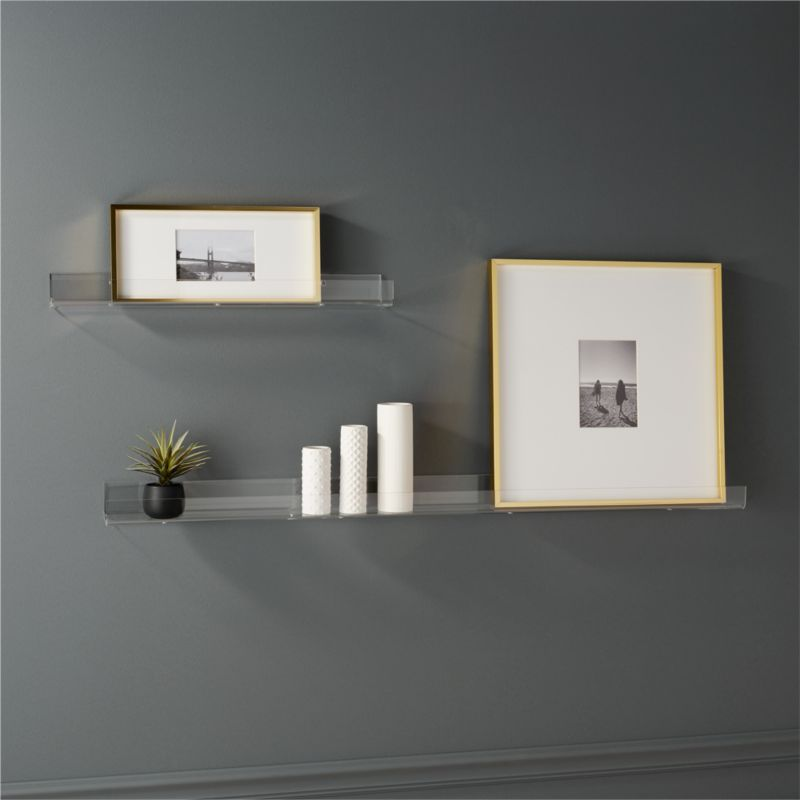Acrylic Wall Shelves | CB2