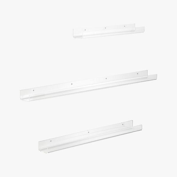 Excellent Acrylic Wall Shelves Cb2 Interior Design Ideas Clesiryabchikinfo