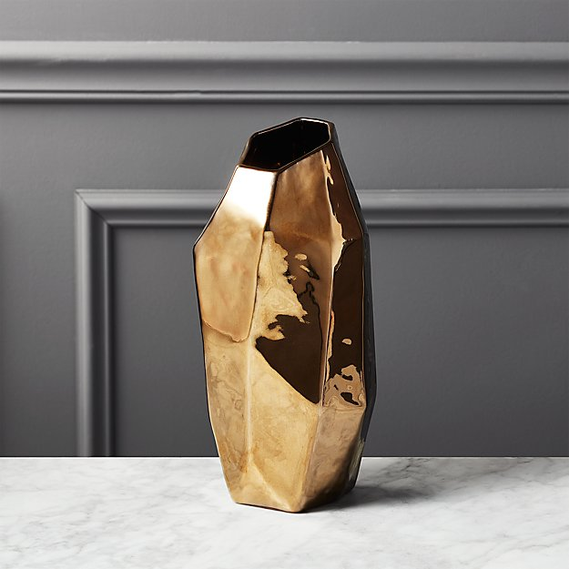 Ada Bronze Vase Reviews Cb2