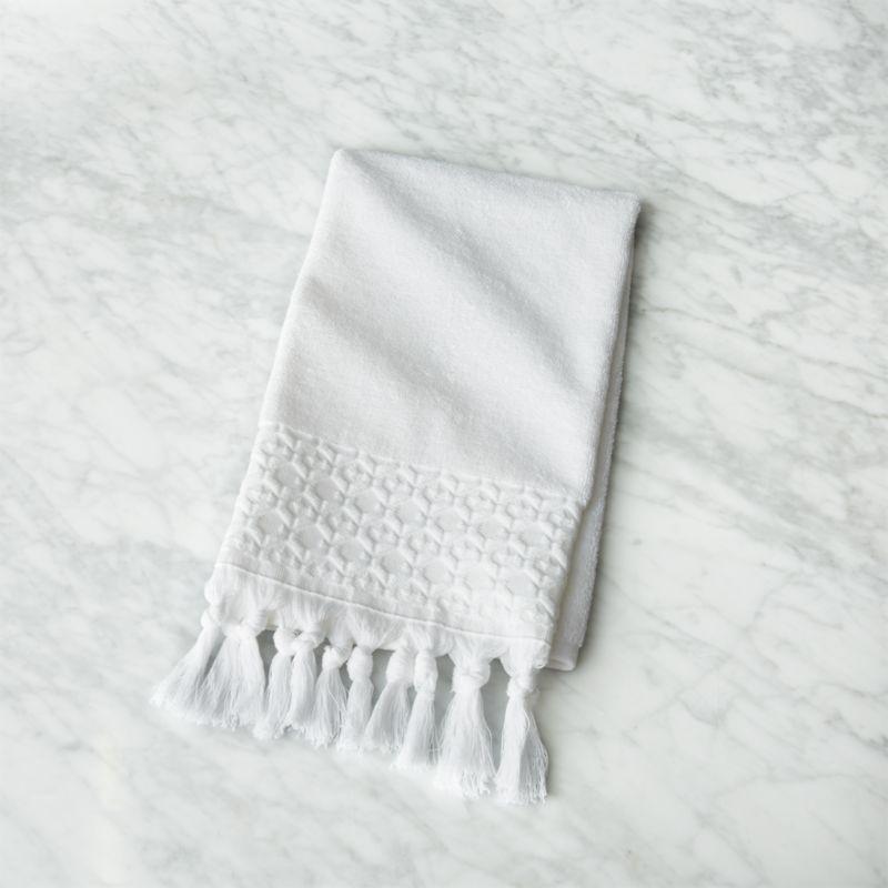 Adana White Hand Towel With Tels
