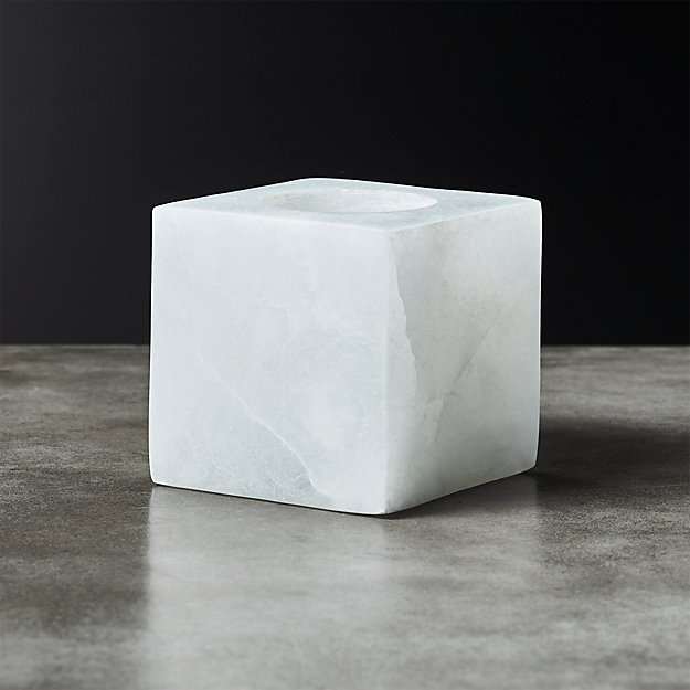 Alabaster Tea Light Candle Holder - Image 1 of 5