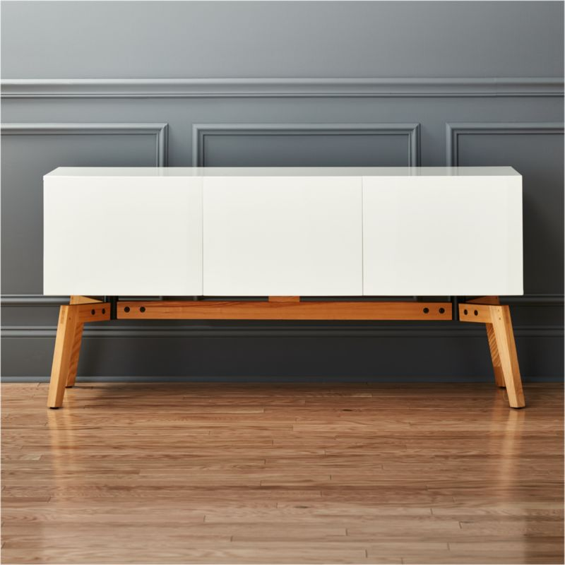Alba Small White Credenza + Reviews | CB2