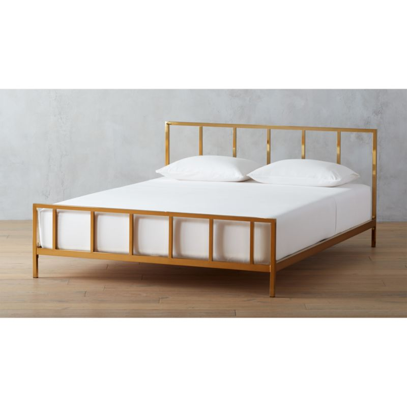 alchemy bronze bed | CB2