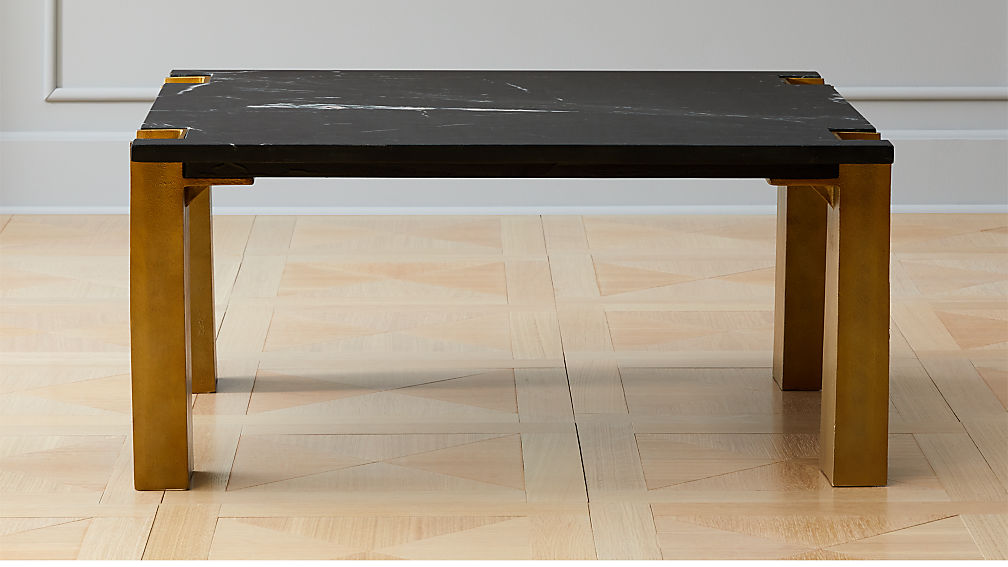 Alcide Square Marble Coffee Table Reviews Cb2