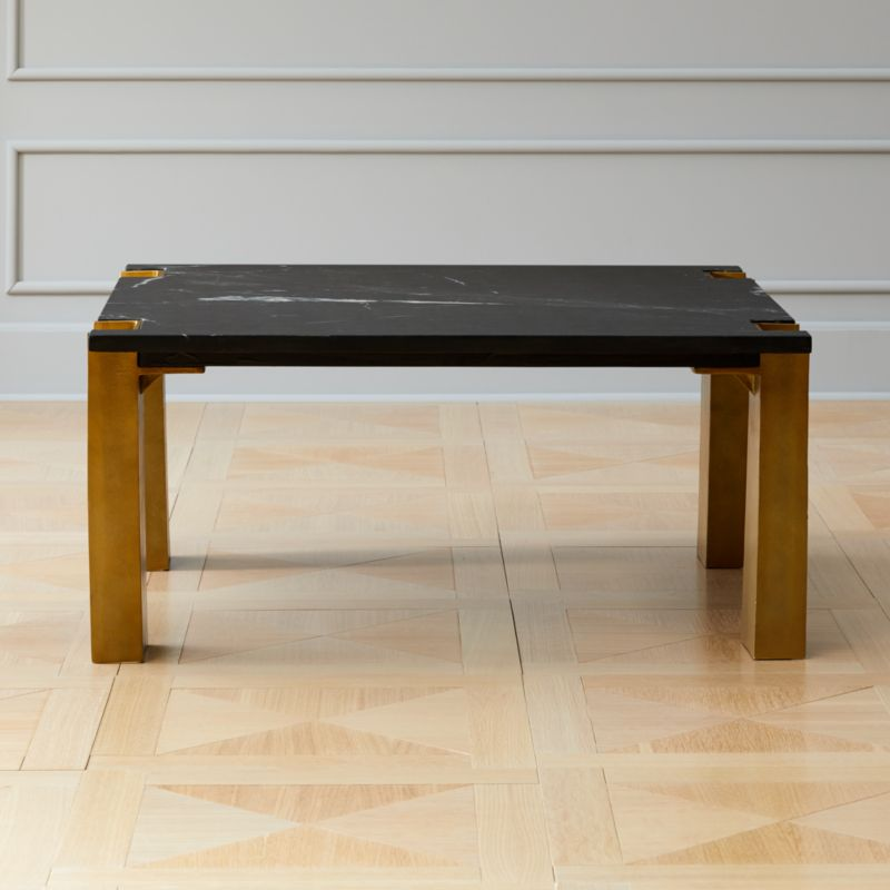Cb2 Darbuka Brass Coffee Table: Marble Coffee Tables