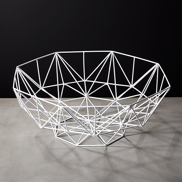 Aldrin White Faceted Bowl - Image 1 of 5