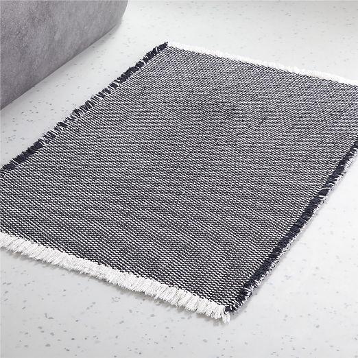 Alex Reversible Black/White Bath Mat