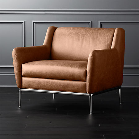 Pleasant Alfred Cognac Leather Chair Creativecarmelina Interior Chair Design Creativecarmelinacom