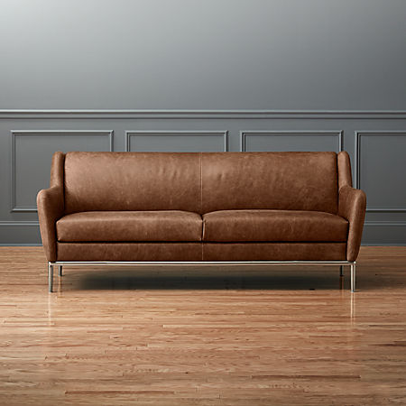 Alfred Cognac Leather Sofa