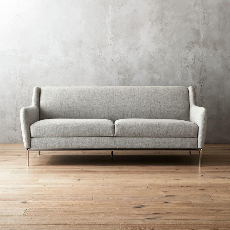 Charmant Alfred Stone Grey Sofa