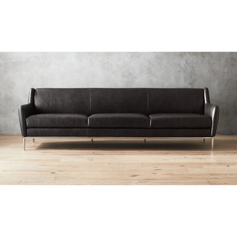 Alfred Extra Large Leather Sofa | CB2